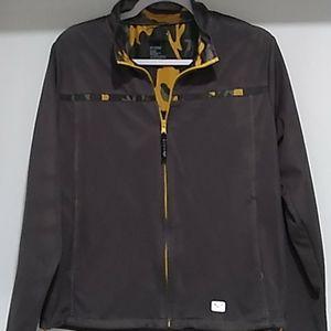 Roxy•women's grey and camo mesh zip up jacket